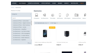 Products filter by categories for CS-Cart