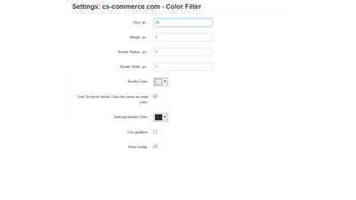 Products color filter for CS-Cart