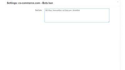 Bots list Cs-Cart